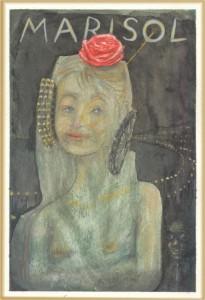 Pintura - Marisol como un rayo de sol en la noche