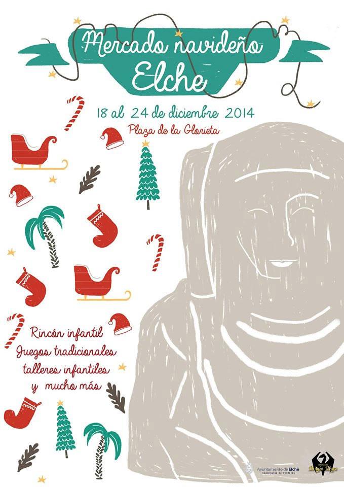 Cartel - Mercadillo Navideño Elche