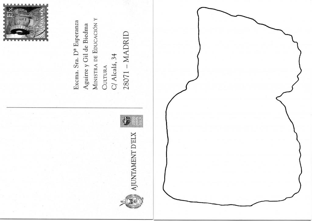 Tarjeta postal - Tarjeta Ministra1