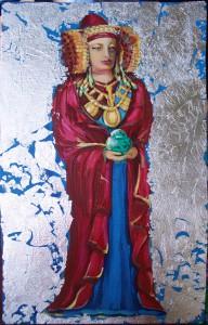 Pintura - Dama de Elche de pie