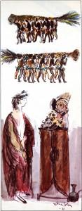 Pintura - Amilcar Barca y la Dama de Elche