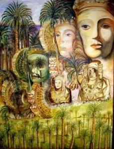 """Pintura - La Dama de Elche """"Ella y ellas"""""""
