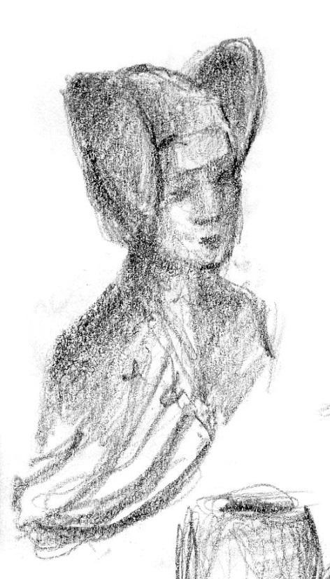 Dibujo - ¿Dama de Elche?