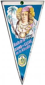 Objeto - Banderín Busto de la Dama de Elche en La Alcudia
