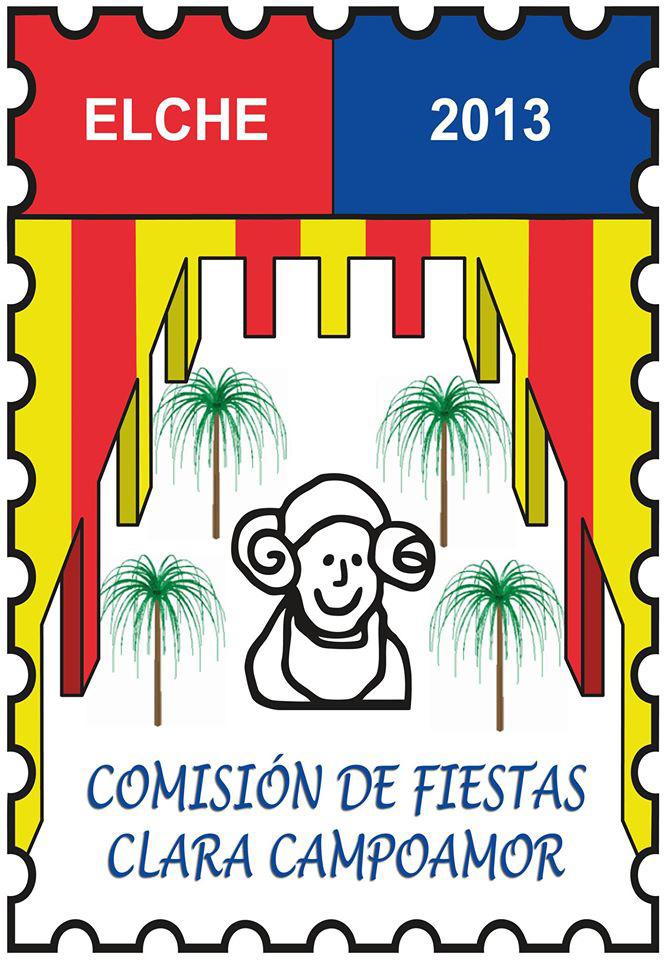 Logotipo - Comisión de Fiestas Clara Campoamor de Elche