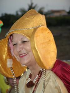 Dama viviente - Disfraz Dama de Elche