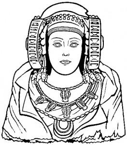 Dibujo - Statue La Dama de Elche