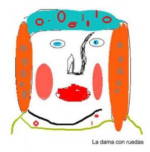 Dibujo - La Dama con ruedas