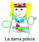 Dibujo - La Dama policía