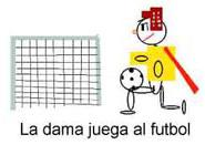 Dibujo - La Dama juega al fútbol