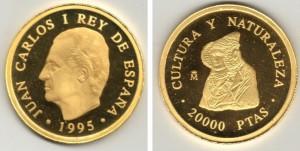 Timbre - Moneda conmemorativa de 20.000 ptas.
