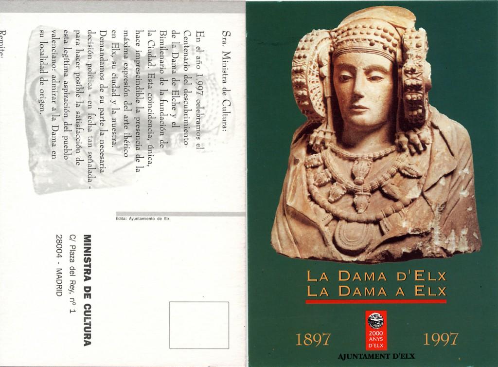 Tarjeta postal - Dama de Elche