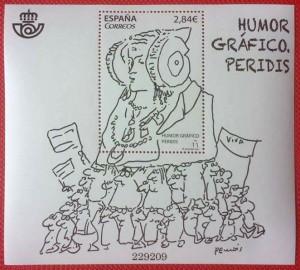 Timbre - Sello Humor Gráfico. Peridis