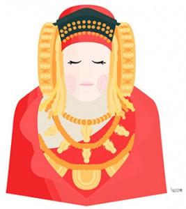Dibujo - La Dama de Elche
