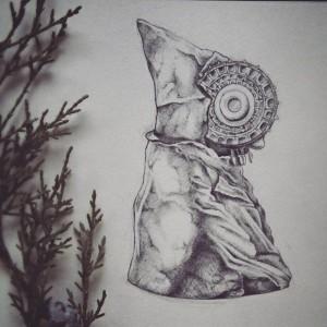 Dibujo - La Dama