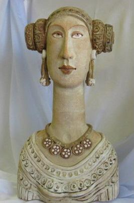Cerámica - Dama de Elche busto