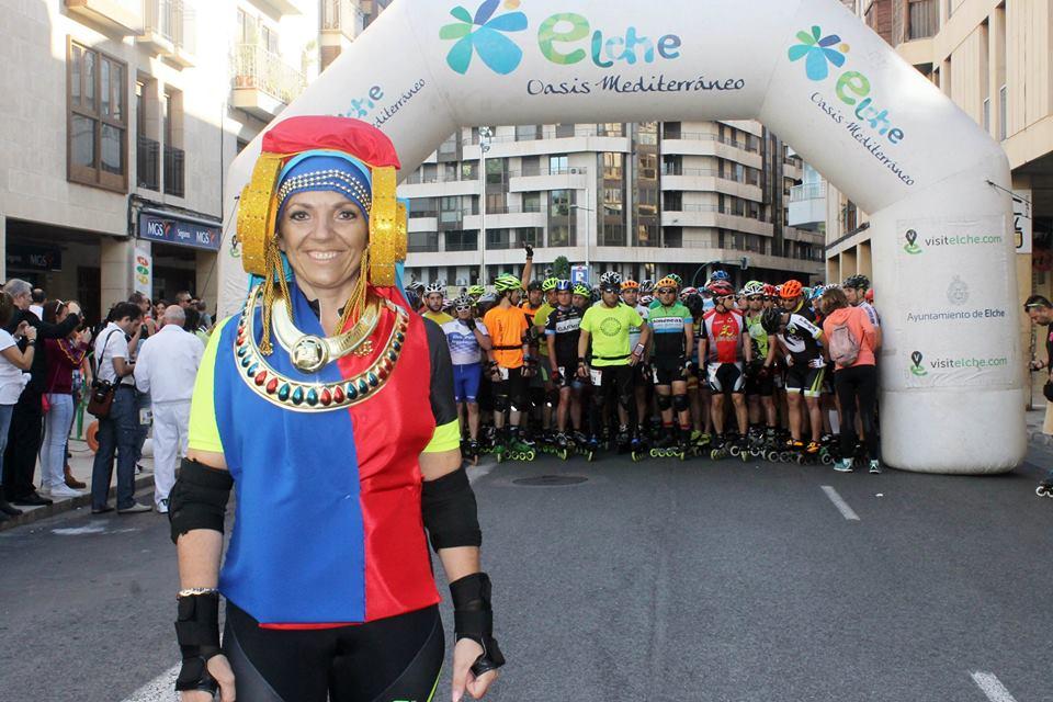 Dama viviente - Media Maratón Patines