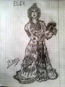 Dibujo - Elsa