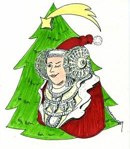 Dibujo - Dama Navidad