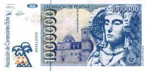 Anuncio - Billete de 1.000.000