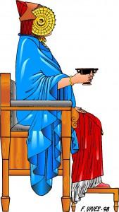Dibujo - Dama de Elche sedente