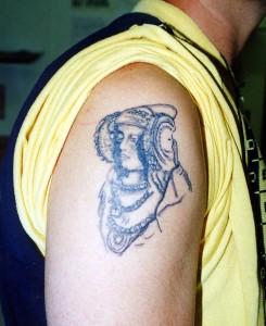 Dibujo - Dama tatuaje
