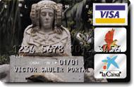 """Timbre - Tarjeta de crédito """"La Caixa"""""""