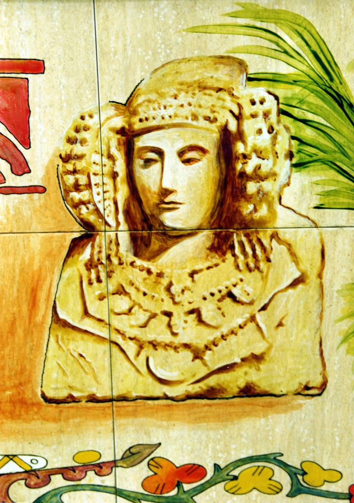 Cerámica - Dama de Elche-Azulejos