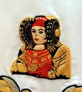Otras técnicas artísticas - Dama de Elche Estandarte Pobladores de Elche