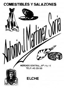 Anuncio - Comestibles Antonio J. Martínez