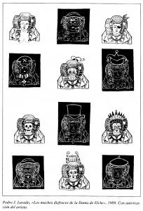 Dibujo - Los muchos disfraces de la Dama de Elche