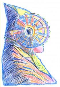 Dibujo - Dama de colores