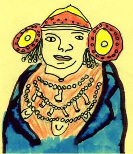Dibujo - Dama de Helena