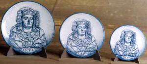 Objeto - Plato con Dama de Elche