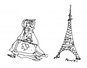 Dibujo - Dama de Elche. La dama viajera.