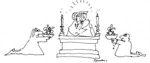 Dibujo - Dama de Elche. La dama interpretada.