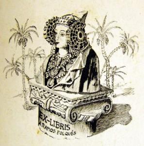 Dibujo - Ex-libris de Alejandro Ramos Folqués