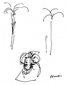 Dibujo - Dama de Elche. Desde la visión plástica del siglo XX.