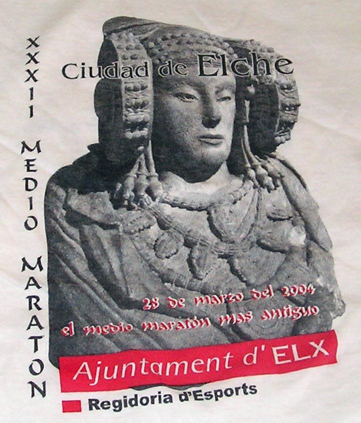 Objeto - Pectoral camiseta XXXII Medio Maratón de Elche