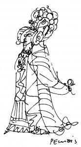 Dibujo - Dama de Elche. Colofón.