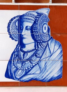 Cerámica - Dama Aparcamiento-Azulejo