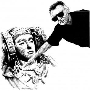 Dibujo - Dama y arqueólogo