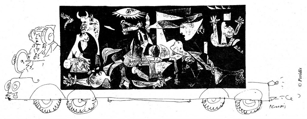 Dibujo - Dama y Guernica