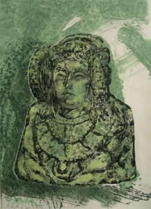 Pintura - Dama en verde