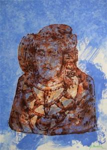 Pintura - Dama en siena