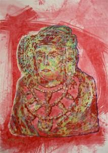 Pintura - Dama en rojo