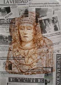 Pintura - Dama y noticias de prensa II