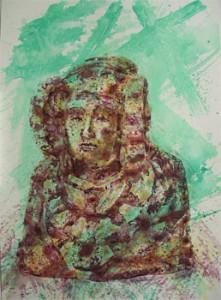 Pintura - Dama texto Elx