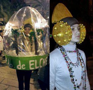 Carnaval de Elche 2016. Fotografía de Ricardo Perlines que pidió a los padres de la niña que saliese del envoltorio para poder inmortalizarla.