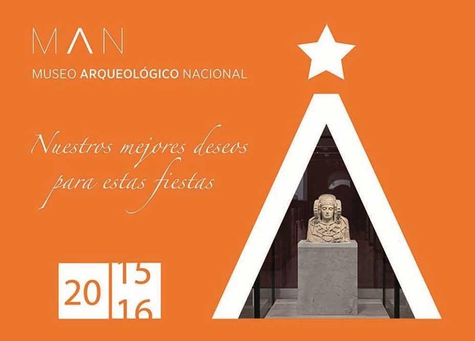 Felicitación navideña del Museo Arqueológico Nacional de Madrid